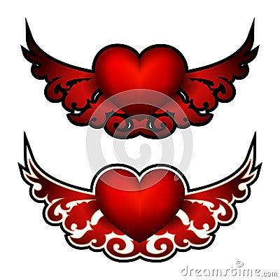 Heart. Decorative element