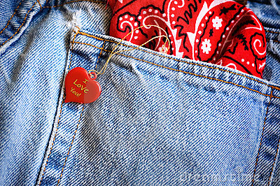 Heart and denim jeans