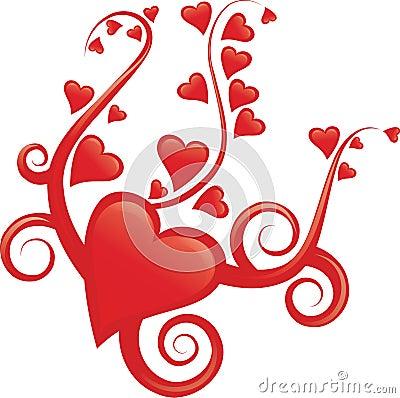 Elegant heart design
