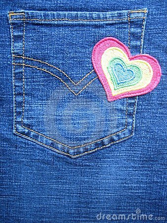 Heart design on  jeans