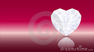 Heart diamond artwork red