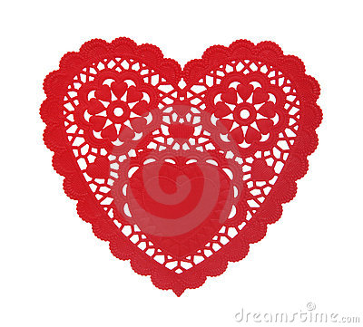 Free Heart Doily Stock Images - 4154454