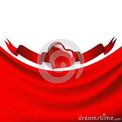 Heart drapery frame
