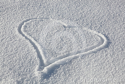 Heart Drawn In Fresh Snow