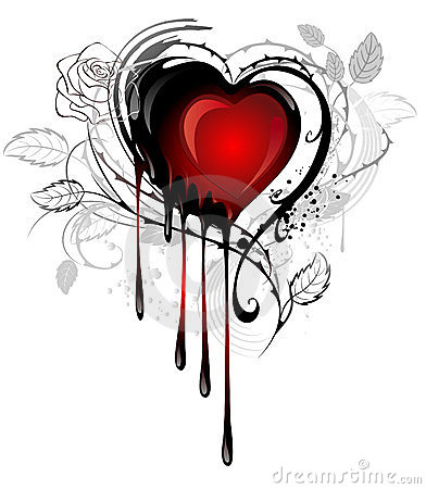 Heart drawn with paint