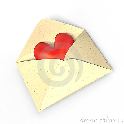 Heart in an envelope.