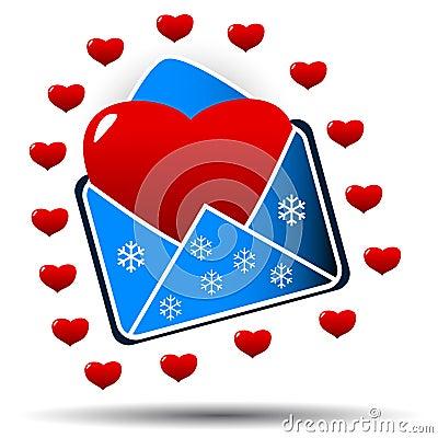 Heart in an envelope