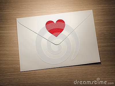 Heart on envelope