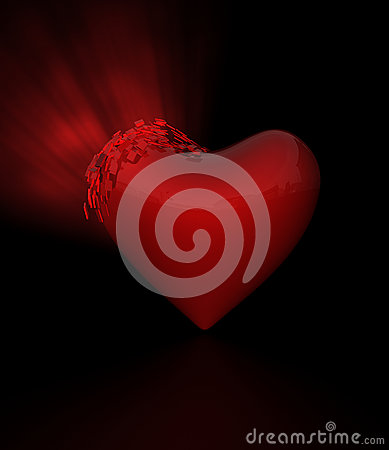 Free Heart Explosion Stock Images - 26066954