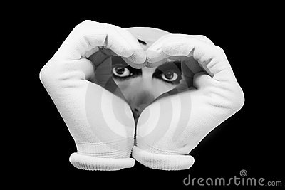 Heart and eyes of  mime