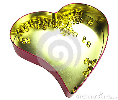 Heart filled with omega 3