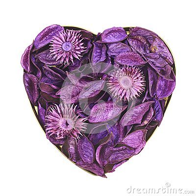 Free Heart Filled With Medley Potpourri Stock Photo - 45286400