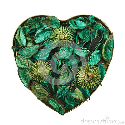Free Heart Filled With Medley Potpourri Stock Image - 45813171