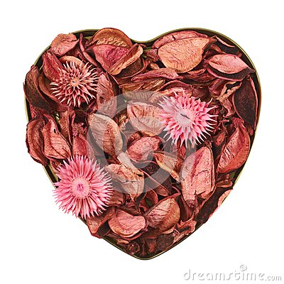 Free Heart Filled With Medley Potpourri Royalty Free Stock Photos - 45909308