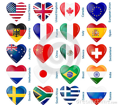 Heart flags popular