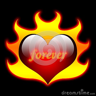 Heart Flames, Valentine, Love