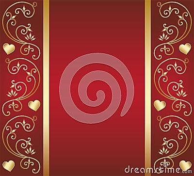 Heart floral design