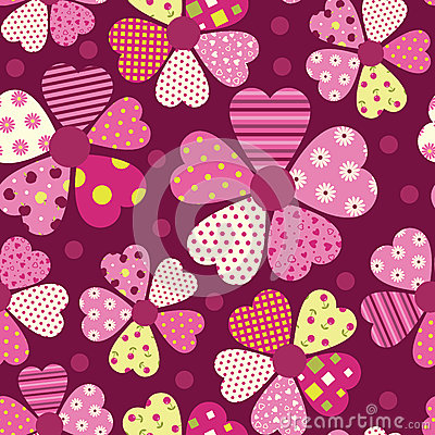 Heart flower pattern