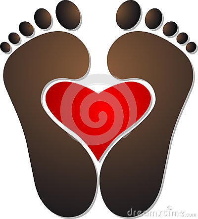 Heart footprint logo