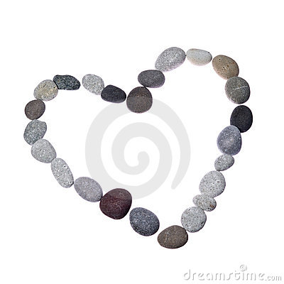 Free Heart Form Frame Of Colored Sea Stones Royalty Free Stock Image - 19514076