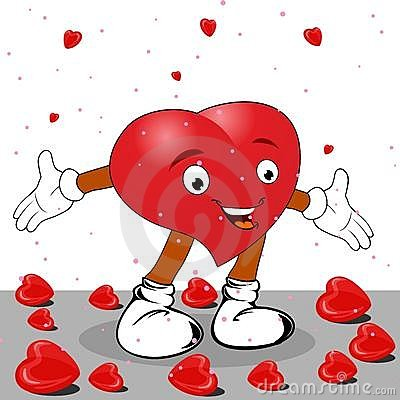 Heart in the form of funny character.