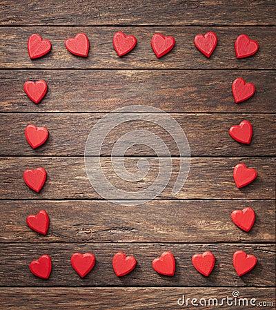 Heart Frame Background Valentine