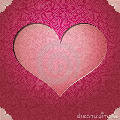 Heart frame. Valentine s Day Vector background