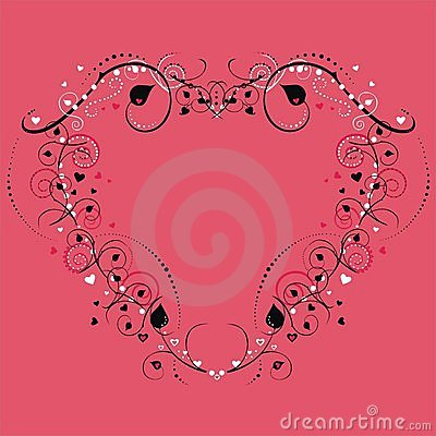 Free Heart Frame With Floral Design Royalty Free Stock Photography - 3921287