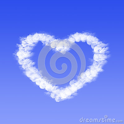Free Heart From Cloud Royalty Free Stock Photos - 32069118