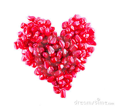 Free Heart From Pomegranate Stock Image - 13121301