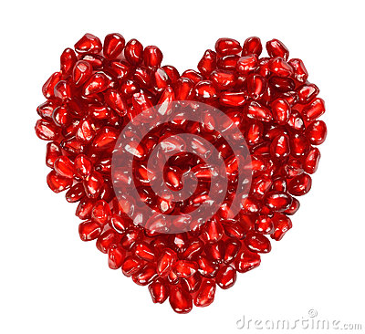 Free Heart From Pomegranate Seeds Stock Photo - 34379990