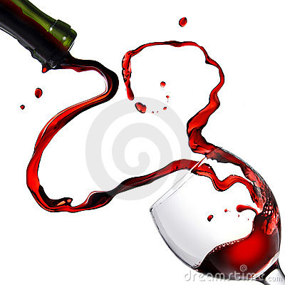 Free Heart From Pouring Red Wine In Goblet Royalty Free Stock Image - 8055716