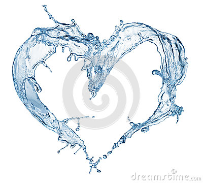 Free Heart From Water Splash With Bubbles Stock Photography - 48632702