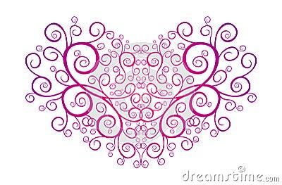 Heart full of pinstripes. Valentine heart
