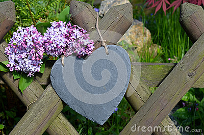 Heart in the garden fence
