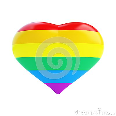 Heart of the gay flag