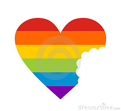Heart on a gay flag