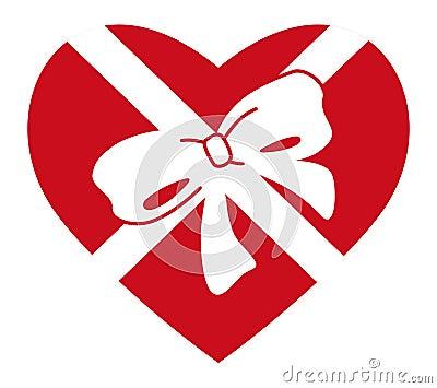 Heart in gift