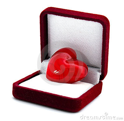 Heart in the gift box
