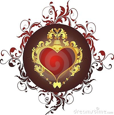 Heart in a gold frame