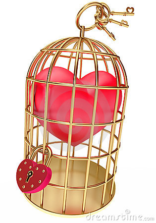 Heart in a golden cage