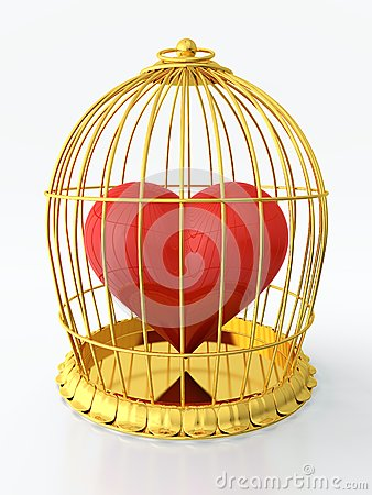 Heart in golden cage