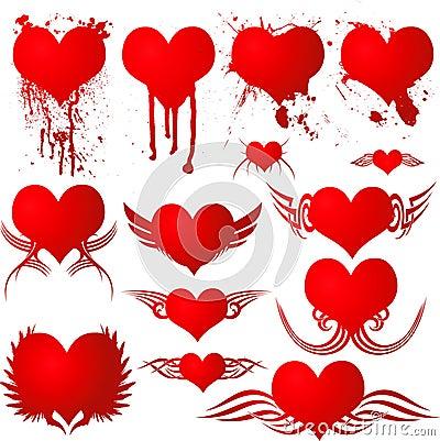 Heart gothic blood