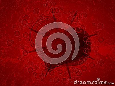 Heart on grunge background