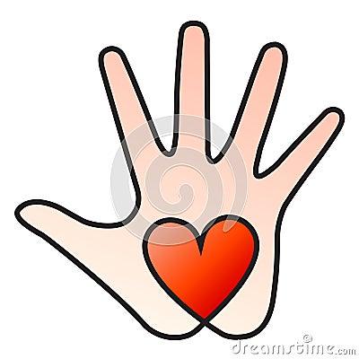 Free Heart Hand Royalty Free Stock Photo - 18364445