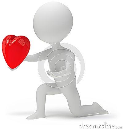 Heart in hand 3d