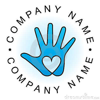 Free Heart Hand Logo Royalty Free Stock Photo - 18826125