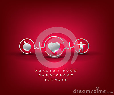 Heart health care, health symbol