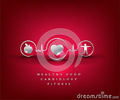 Heart health care, health symbol