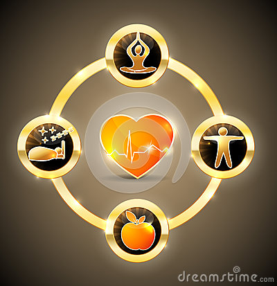 Free Heart Health Wheel Stock Photo - 33344310